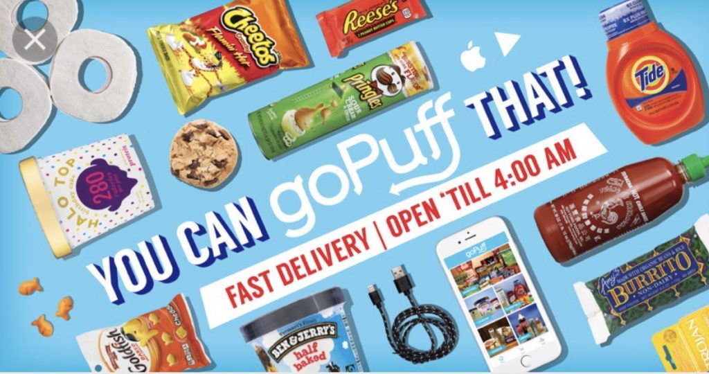 Go Puff snack delivery