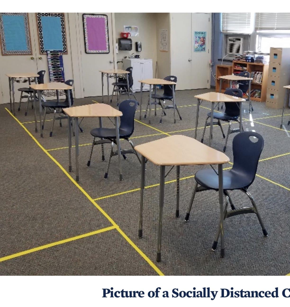 social distance classrooms